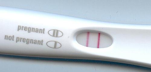 Photo of pregnancy test